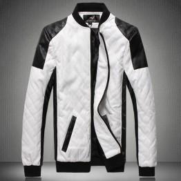 Mens leather jacket pilot chaqueta de cuero biker Jackets big size coat black white 5XL 6XL deri ceket faux leather male outwear