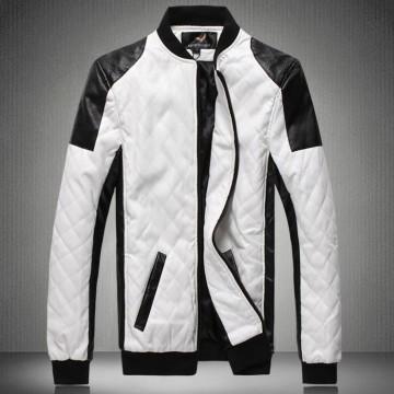 Mens leather jacket pilot chaqueta de cuero biker Jackets big size coat black white 5XL 6XL deri ceket faux leather male outwear32716659507